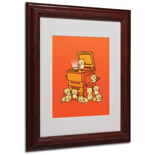 "Trademark Fine Art ""Original Copycat"" by Budi Satria Kwan Framed Painting Print"