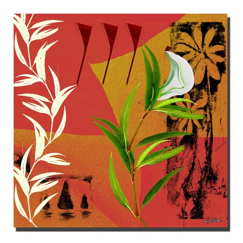 Trademark Fine Art 'New Flower VI' by Miguel Paredes Painting Print on Canvas