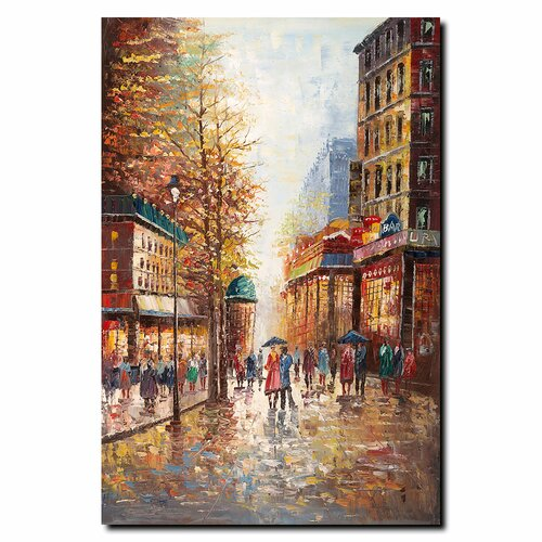 Trademark Fine Art 'French Street Scene I' by Joval Painting Print on Canvas