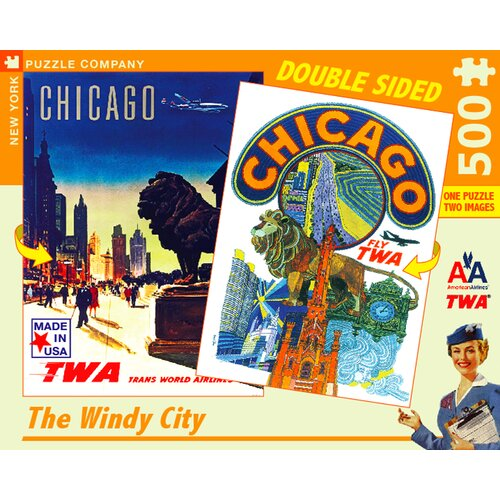 Chicago Double Sided 500-Piece Puzzle