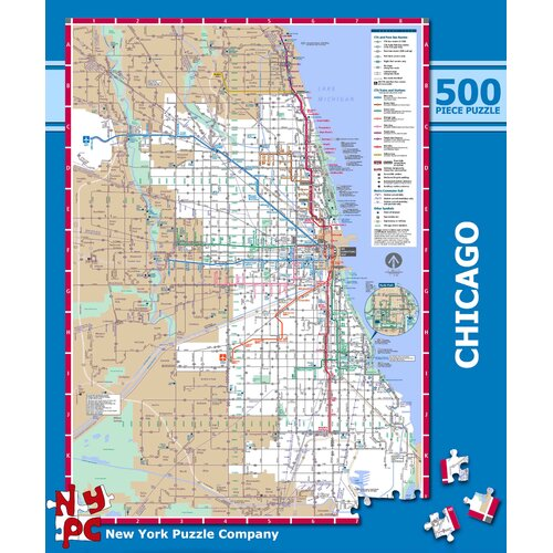 Chicago Subway 500-Piece Puzzle