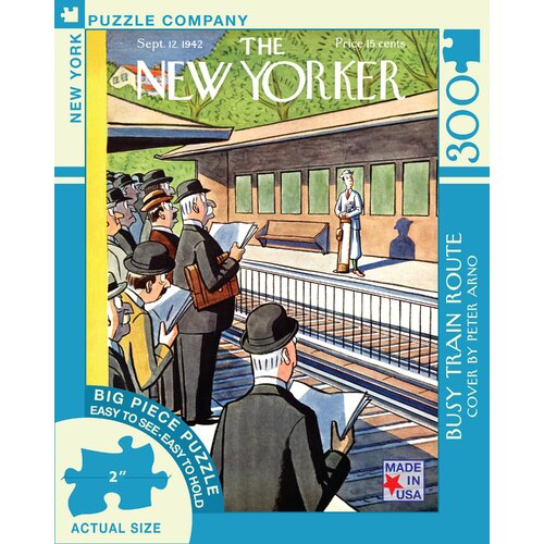 Busy Train Route 300-Piece Puzzle
