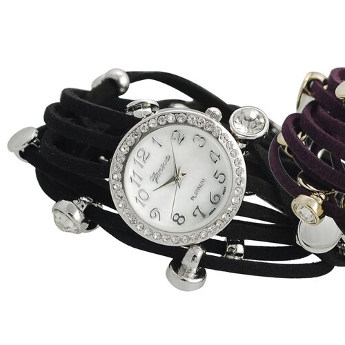 Women's Rhinestone Accented Multi Strand Wrap Watch