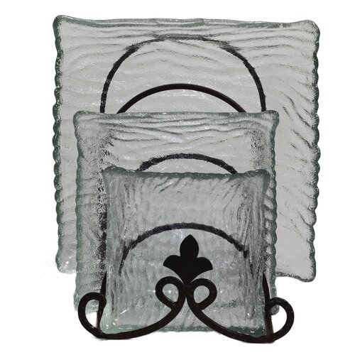 3 Piece Glass Plate Set