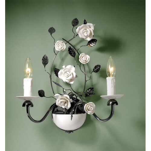 Laura Ashley Home Chantilly 2 Light Wall Sconce