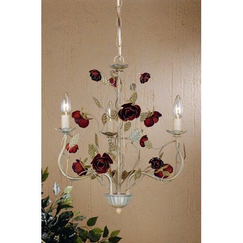 English Rose 3 Light Mini Chandelier