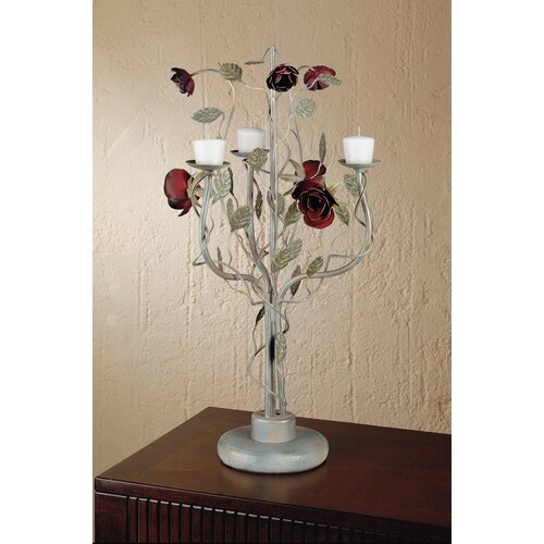 Laura Ashley Home English Rose Stainless Steel Candelabra