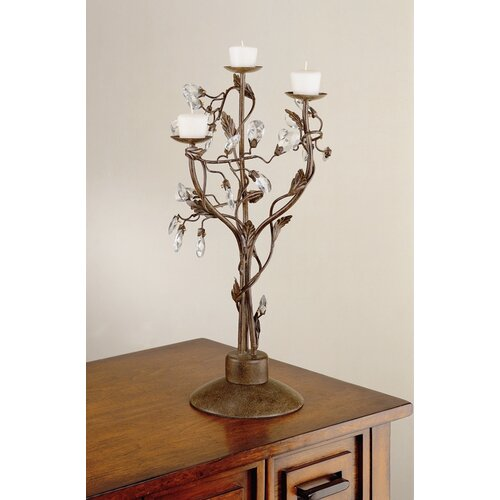 Laura Ashley Home Freya Stainless Steel Candelabra