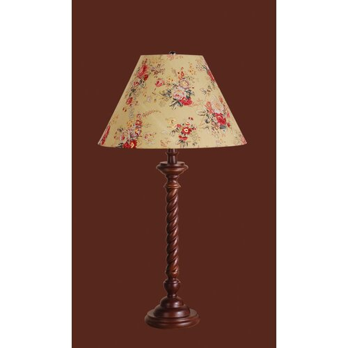 "Laura Ashley Home Somerset 29.75"" H Table Lamp with Floral Empire Shade"