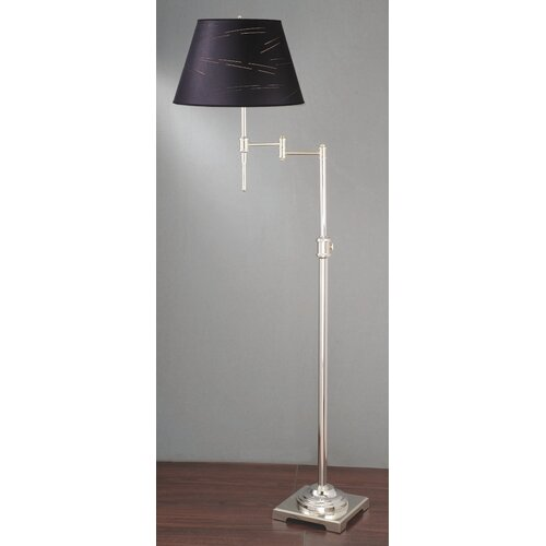 Laura Ashley Home State Street Swing Arm Floor Lamp with Kurt Shade