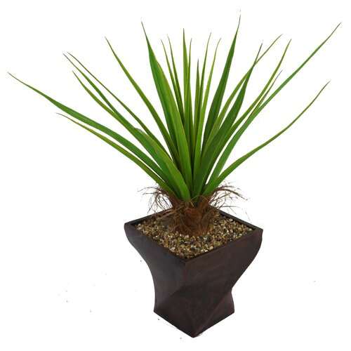 Tall Agave Floor Plant in Fiberstone Planter