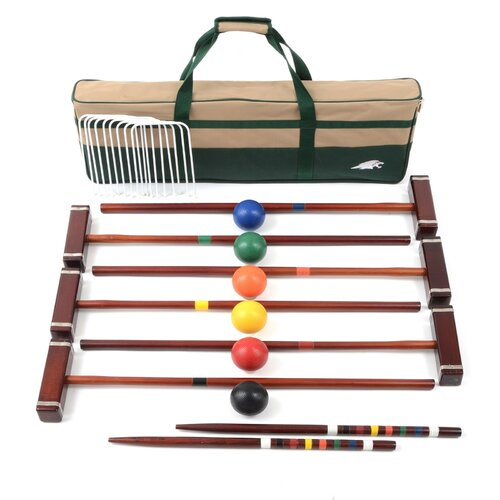 lion sports premier 6 player croquet set