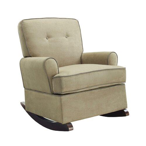 Wood Fabric Rocking Chair  Wayfair