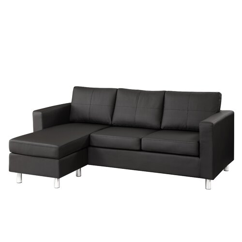 Dorel Asia Space Saving Faux Leather Sectional