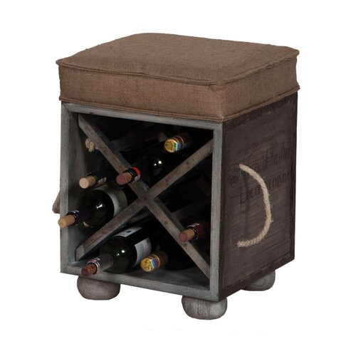 Wildon Home ® Small Wine Crate Ottoman