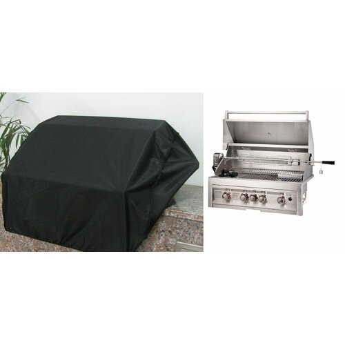 "Sunstone Grills 34"" Weather-Proof Grill Cover for 4 Burner Grill"