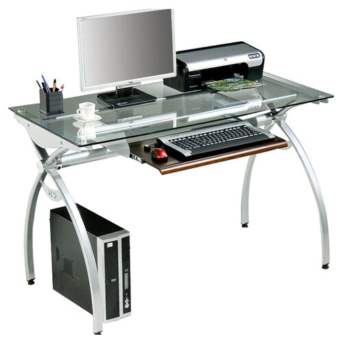 "Techni Mobili 30"" x 44"" Computer Desk with Keyboard Trey"