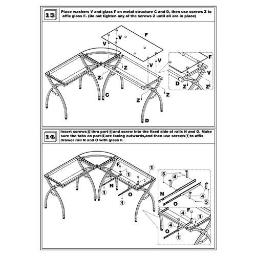 Techni Mobili L-Shaped Computer Desk