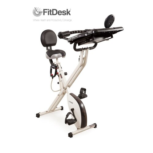 Fitdesk X2 0 Semi Recumbent Bike With Desk Amp Reviews Wayfair