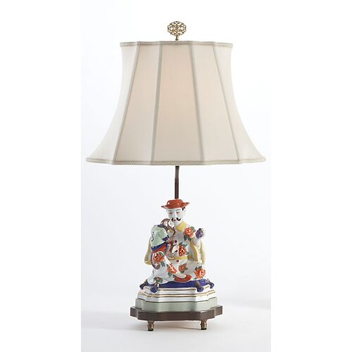"""Chelsea House Figure Man 24"""" H Table Lamp with Bell Shade"""