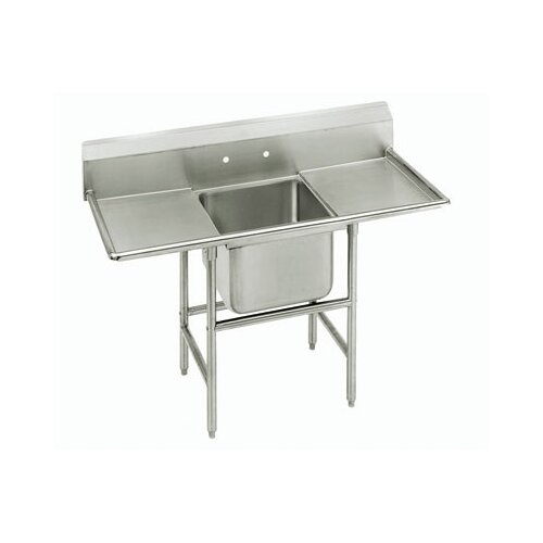 Advance Tabco 900 Series Seamless Bowl 1 Compartment Scullery Sink