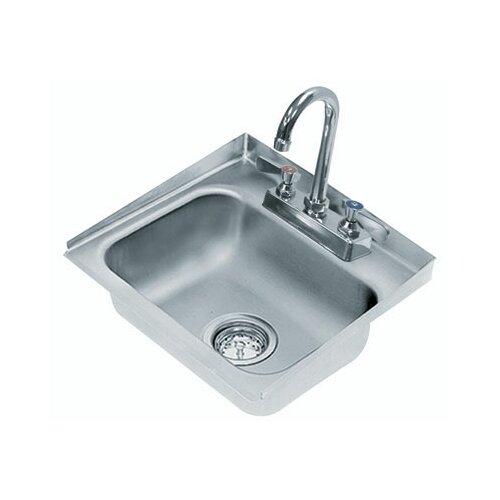 "Advance Tabco 304 Series Seamless Bowl 15"" x 16"" 1 Compartment Drop-in Sink with Faucet"