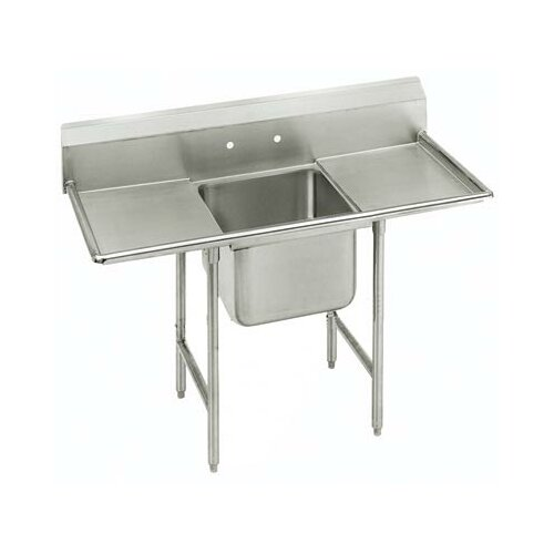Advance Tabco 930 Series Seamless Bowl 1 Compartment Scullery Sink