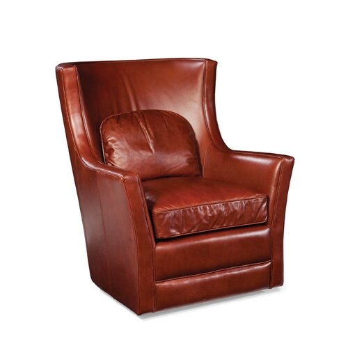 Kirby Leather Swivel Chair