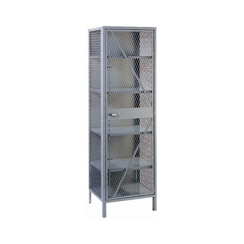 "Lyon Workspace Products All-Welded Visible Storage Cabinet with 4 Shelves: 78"" H x 24"" W x 21"" D"