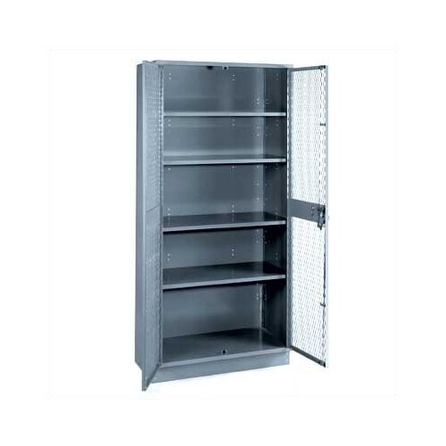 "Lyon Workspace Products All-Welded Visible Storage Cabinet with 4 Shelves and 4"" Base: 72"" H x 36"" W x 18"" D"