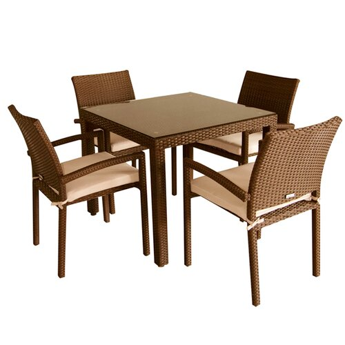 International Home Miami Liberty 5 Piece Dining Set