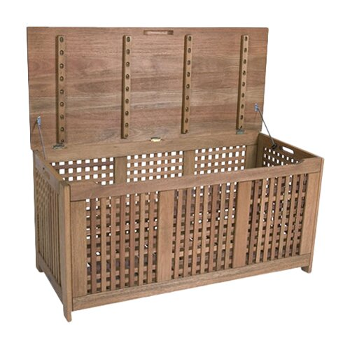 International Home Miami Outdoor Eucalyptus Wood Storage Box