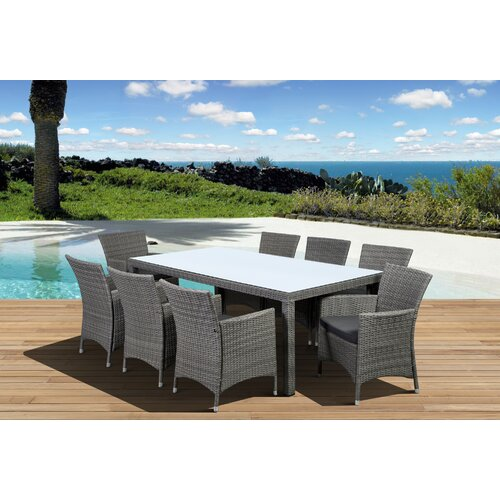 International Home Miami Atlantic Liberty Deluxe 9 Piece Dining Set
