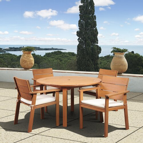 International Home Miami Amazonia Vincent 5 Piece Dining Set