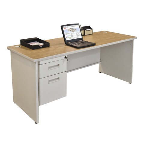 Marvel Office Furniture Pronto Executive Desk with Modesty Panel