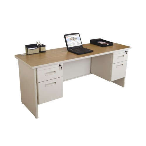 Marvel Office Furniture Pronto Double Pedestal Locks with 2 Keys Computer Desk