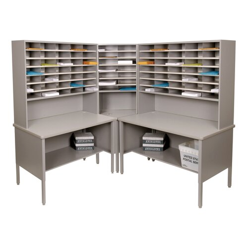 Marvel Office Furniture 84 Slot Corner Literature Organizer