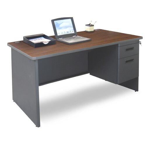 Marvel Office Furniture Pronto Executive Desk with Single Pedestal