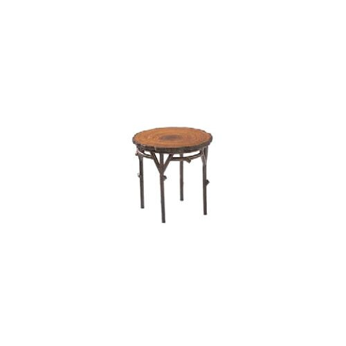 Whitecraft Chatham Run Heartwood Round End Table with Faux Top