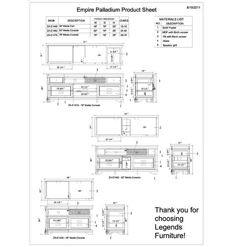 "Legends Furniture Empire 76"" TV Stand"