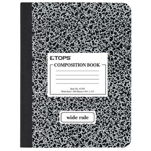 Tops Wide Rule Hard Cover Composition Book