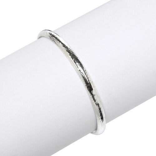 Sterling Silver Hand-engraved 5-mm Bangle Bracelet