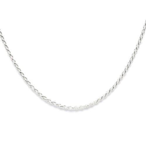 Sterling Silver Italian Diamond-Cut Rope Chain