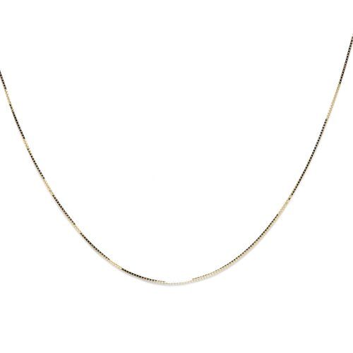 Sterling Essentials 14k Yellow Gold Box Chain (0.5 mm)