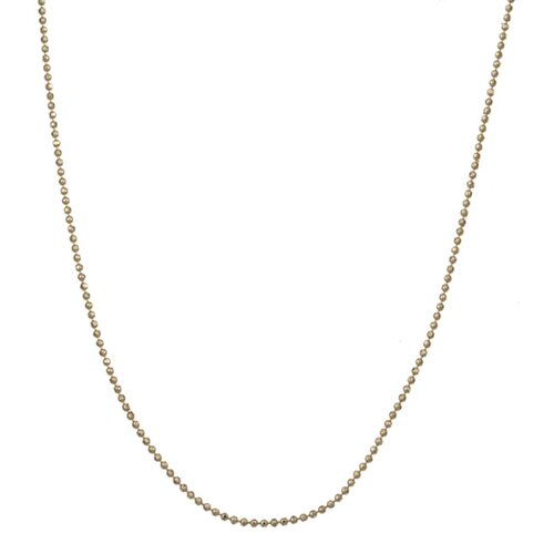 Sterling Essentials 14k Yellow Gold Diamond-Cut Ball Chain