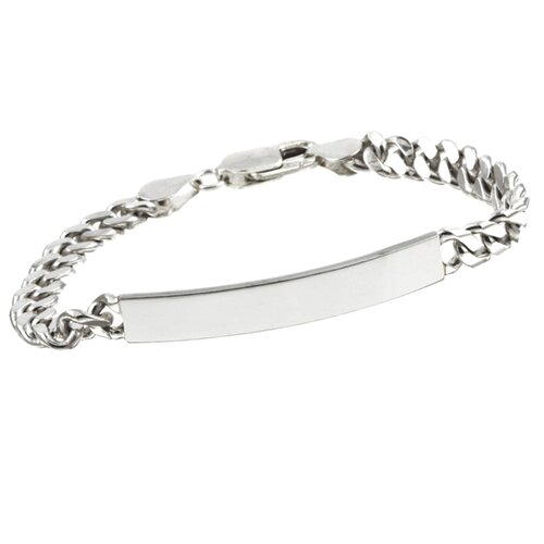 Sterling Essentials Sterling Silver 6 inches Handmade  Child's Cuban Link ID Bracelet