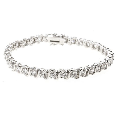 Sterling Essentials Sterling Silver Cubic Zirconia Tennis Bracelet