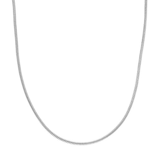 Sterling 1mm Silver Snake Chain