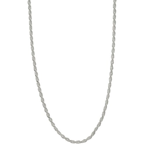 Sterling Essentials Sterling Silver 2mm Diamond-Cut Rope Chain