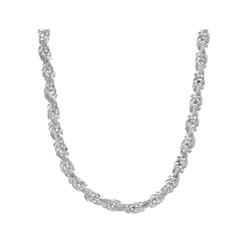 Sterling Essentials Sterling Silver Diamond-Cut Rope Bracelet